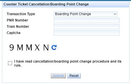 Boarding Point Change Procedure