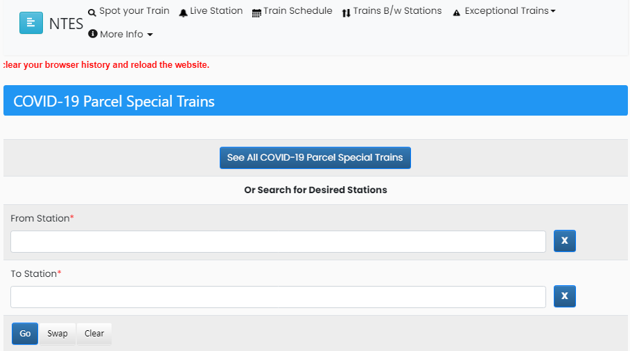 How to See All COVID-19 Parcel Special Trains