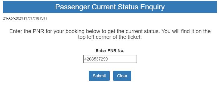 Train ticket Confirmation